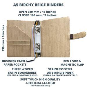 Birchy Beige Binder Open