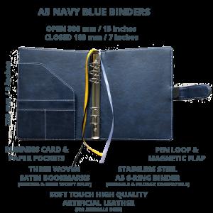 Navy Blue Binder Open